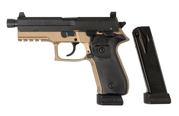 Picture of Arex Rex Zero 1 Tactical Flat Dark Earth 9mm Semi-Automatic 20 Round Pistol