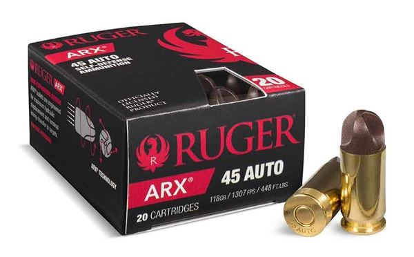 Picture of Ruger ARX .45 ACP Ammo, 200 Rounds Box (20 Cartridges X 10 Case)