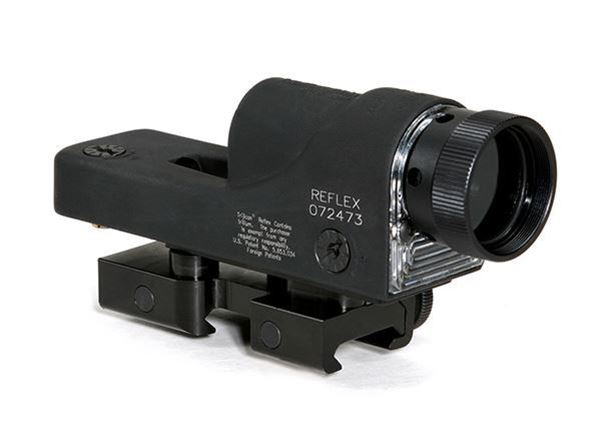 Picture of RX01NSN: Trijicon Reflex 4.5 MOA Amber Dot with Flattop Mount