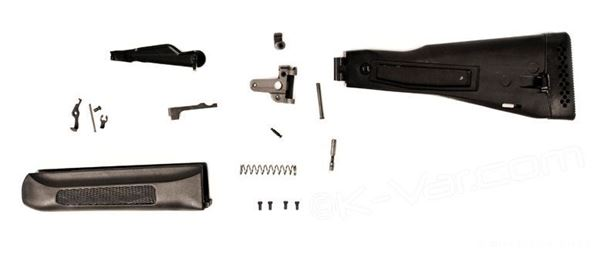 Picture of Stock set, for Saiga 12, folding polymer buttsock, attaching hardware, handguard, lever, Russian