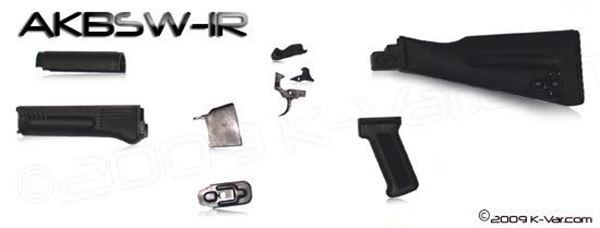 Picture of Stock set, US Warsaw stock, pistol grip, trigger, disconnector, follower, floorplate, BG hammer, Hand Guards