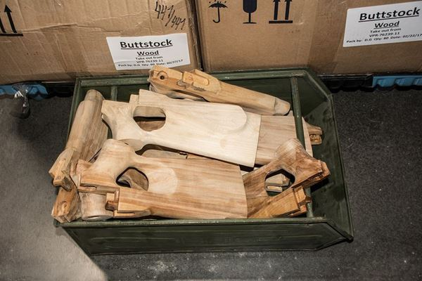 Picture of Molot Case of 80 - 84 Take Off Birch Wood Thumbhole Buttstocks