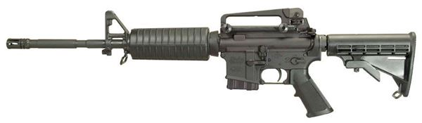 Picture of Windham Weaponry WW-15 MPC .223 Remington/5.56 NATO Semi-Automatic Rifle in Black - RIT2234TCA