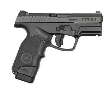 Steyr C-A1 Semi Auto Compact 9mm Pistol, 2 17rd magazines, Black Polymer Frame