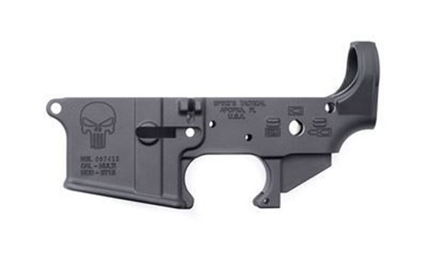 Picture of Lower Receiver Stripped - w/Punisher Logo Spike's Tactical