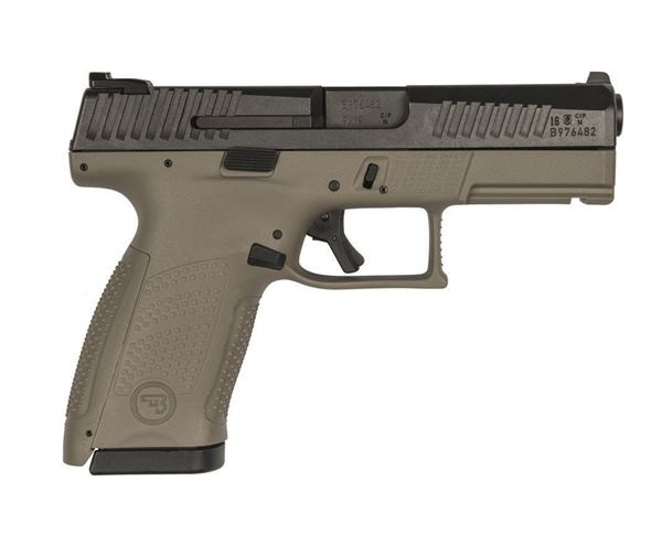 Picture of CZ P-10 C 9MM, FDE,NS 15rd, Reversible Mag Catch