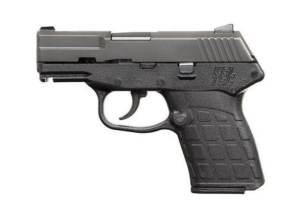 KelTec PF-9 9mm Pistol 7rd Black Polymer Frame Green Slide