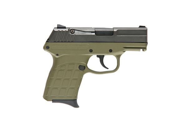KelTec PF-9 Semi Auto Handgun 9mm 7rd Blued Slide OD Green Polymer Frame