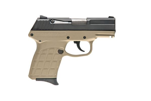 KelTec PF-9 Semi Auto Handgun 9mm 7rd Blued Slide Tan Polymer Frame
