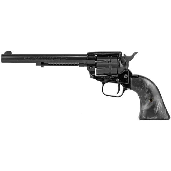 "Heritage Rough Rider .22 LR 9RD 6.5"" Barrel Single Action Revolver Black Pearl Grips"