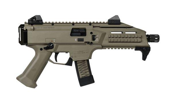 "Picture of CZ SCORPION EVO 3 S1 9 mm Pistol 7.72"" Barrel threaded 1/2X28 FDE"