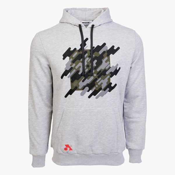 Picture of Arsenal Gray Cotton-Poly Relaxed Fit Graphic Pullover Hoodie