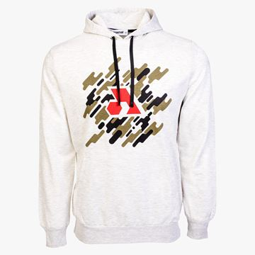 Picture of Arsenal Beige Cotton-Poly Relaxed Fit Graphic Pullover Hoodie