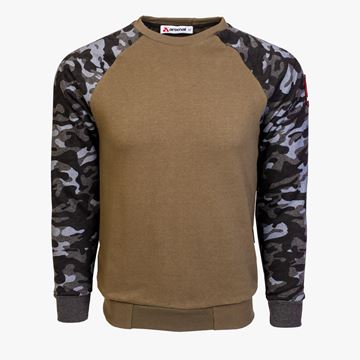 Picture of Arsenal Khaki / Black Camo Cotton-Poly Standard Fit Pullover Sweater