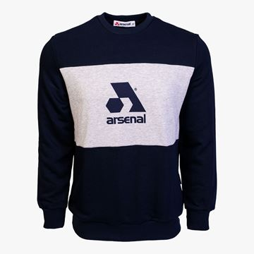 Picture of Arsenal Blue / Grey Cotton-Poly Standard Fit Logo Pullover Sweater