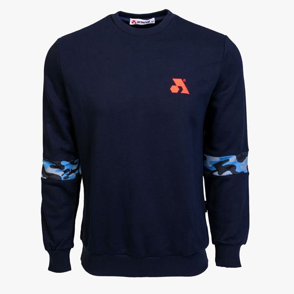 Picture of Arsenal Blue Cotton-Poly Standard Fit Flex Pullover Sweater