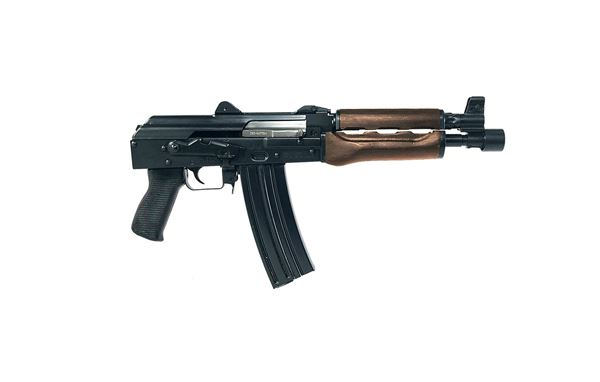 Picture of Zastava ZPAP85 5.56x45mm Black Semi-Automatic 30 Round Pistol with Wood Handguard