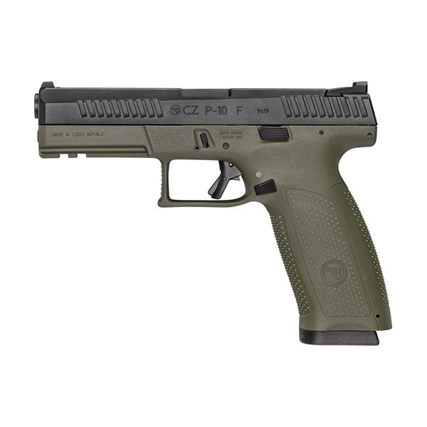 Picture of CZ P-10F 9mm OD Green Semi-Automatic Pistol (Low Capacity)