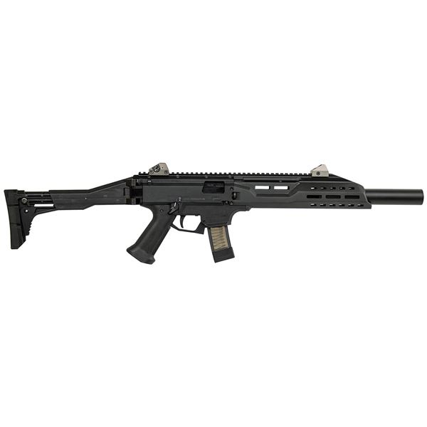 Picture of CZ Scorpion EVO 3 S1 with Faux Suppressor 9mm Black Carbine (Low Capacity)