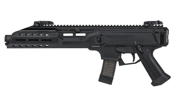 Picture of CZ Scorpion EVO 3 S1 with Flash Can 9mm Black Pistol