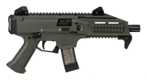 Picture of CZ Scorpion EVO 3 9mm OD Green Semi-Automatic 10 Round Pistol