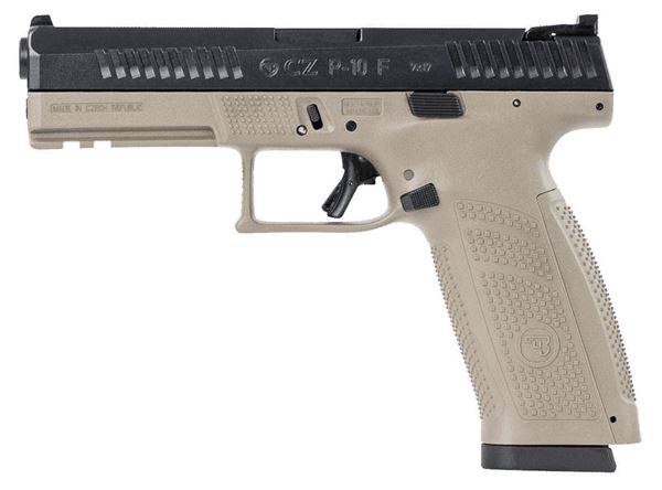 Picture of CZ P-10F 9mm Flat Dark Earth Semi-Automatic Pistol (Low Capacity)