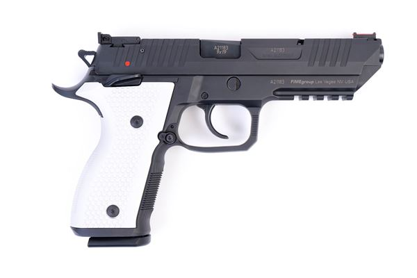 Picture of Arex Rex Alpha 9 9mm Black with White Aluminum Grips Semi-Automatic 20 Round Pistol