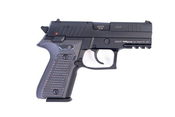 Picture of Arex Rex Zero 1CP-01GR1 9mm Green with Hogue Piranha Black Grey Grips 15rd Pistol