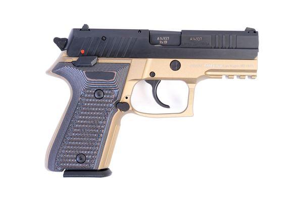 Picture of Arex Rex Zero 1CP-03GR1 9mm Flat Dark Earth with Hogue Piranha Black Grey Grips Semi-Automatic 15 Round Pistol