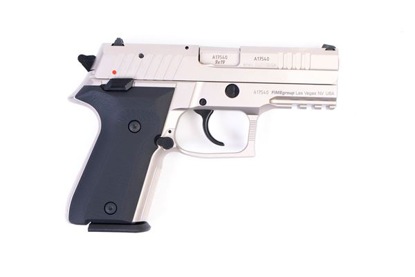 Picture of Arex Rex Zero 1CP-06B1 Silver with Hogue Black Grips 9mm Semi-Automatic 15 Round Pistol