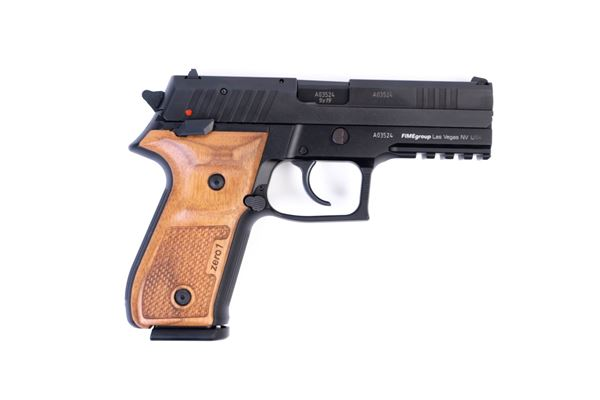 Picture of Arex Rex Zero 1S-01W Black with Oak Wood Grips 9mm 17 Round Pistol