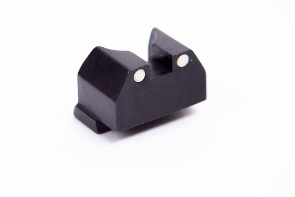 Picture of Arex Steel Rear Sight with White Center Dots for Rex Zero 1 Pistols
