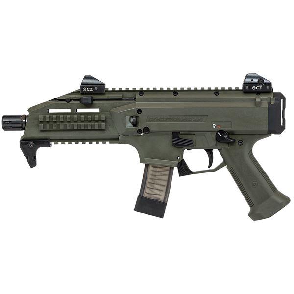 Picture of CZ Scorpion EVO 3 S1 9mm OD Green Semi-Automatic 20 Round Pistol