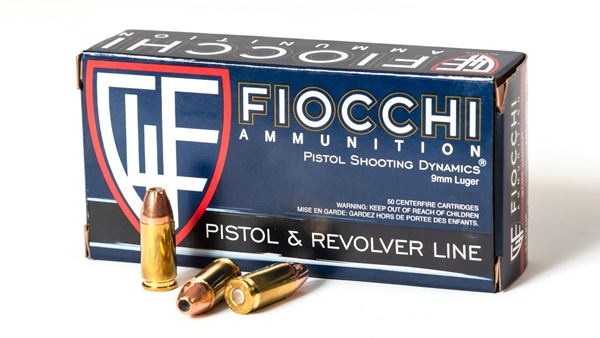 Picture of Fiocchi Ammunition 9mm 124 Grain Jacketed Hollow Point 50 Round Box