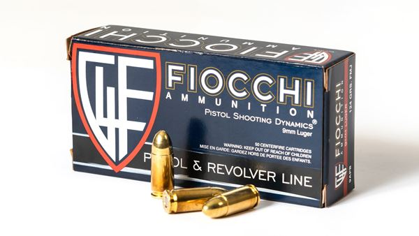 Picture of Fiocchi Ammunition 9mm 124 Grain Full Metal Jacket 50 Round Box