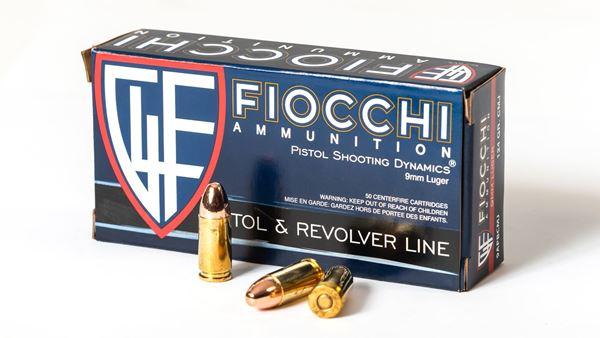 Picture of Fiocchi Ammunition 9mm 124 Grain Reloadable Copper Full Metal Jacket 50 Round Box