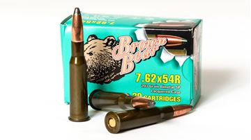 Picture of Bear Ammo 7.62x54R 203 Grain Bimetal Lacquered Soft Point 500 Round Box
