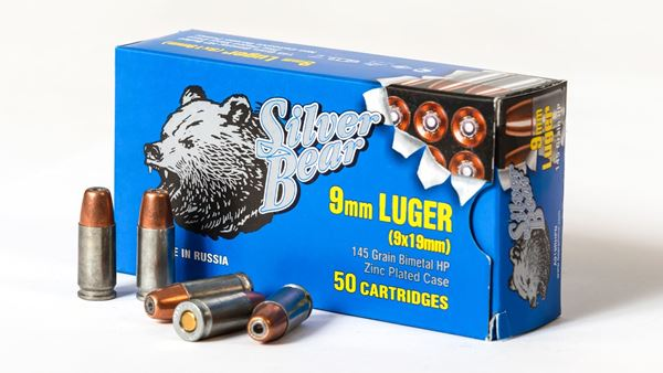 Picture of Bear Ammo 9mm 145 Grain Jacketed Hollow Point 500 Round Case