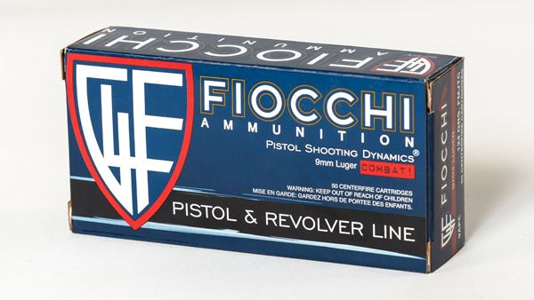 Picture of Fiocchi Ammunition 9mm 124 Grain Full Metal Jacket with Truncated Cone 50 Round Box