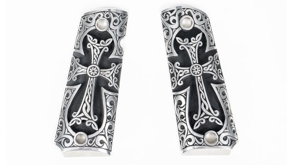 Picture of Outshine Designs 1911 Sterling Silver Cross Design Pistol Grip