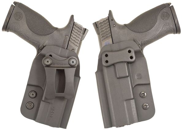 Picture of CompTac QI IWB Kydex Holster- Modular Fit-Size 1-Black