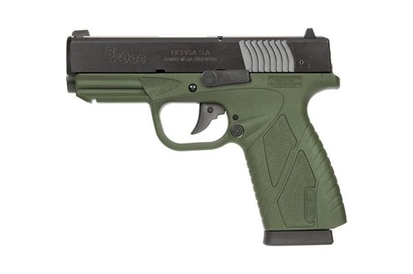 Picture of Bersa 9mm Conceal Carry Double Action Olive Drab 8 Round Pistol