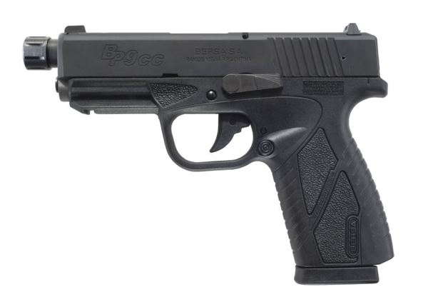 Picture of Bersa 9mm Conceal Carry Double Action Black Threaded Barrel 8 Round Pistol