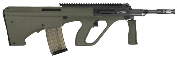 Picture of Steyr Arms AUG A3 M1 5.56x45mm / 223 Rem Green Semi-Automatic Rifle with Extended Rail