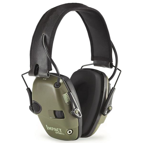 Picture of Howard Leight Impact Sport OD Green Electronic Earmuff