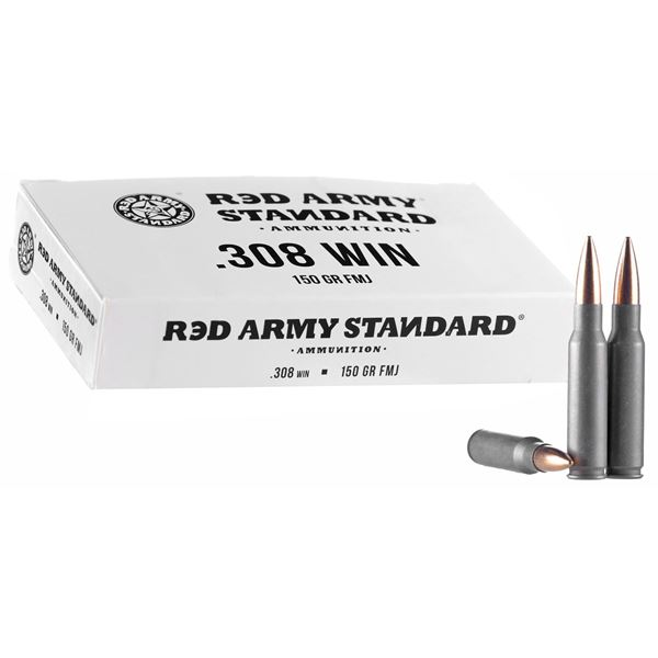 Picture of Red Army Standard 308 Win 150 Grain FMJ Ammunition 500 Rounds