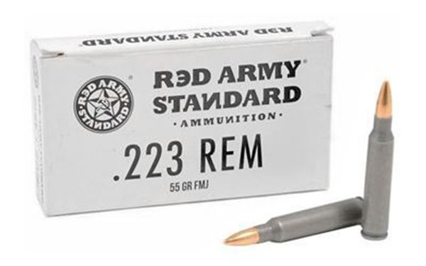 Picture of Red Army Standard 223 Rem 55 Grain FMJ Sealed Tin Ammunition 500 Rounds