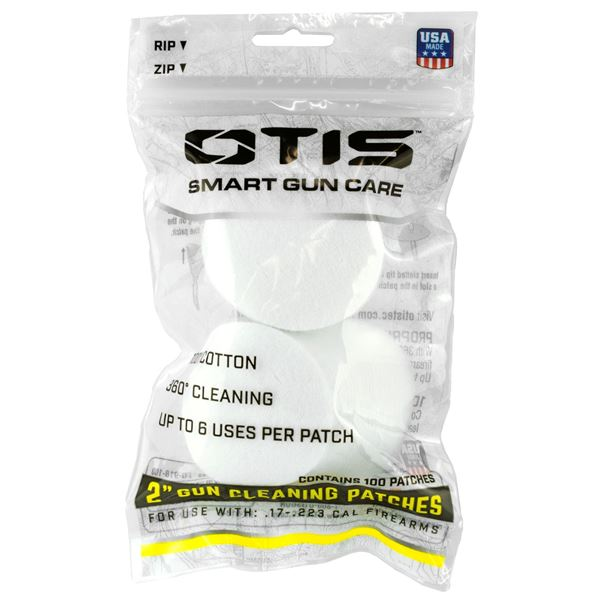 """Picture of Otis Technology Pack of 100 Small Caliber 2"""" Cleaning Patches"""