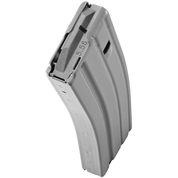 Picture of DURAMAG Speed™ 223 Rem 300 Blk 30 Round AR-15 Style Gray Aluminum Magazine Gray AGF
