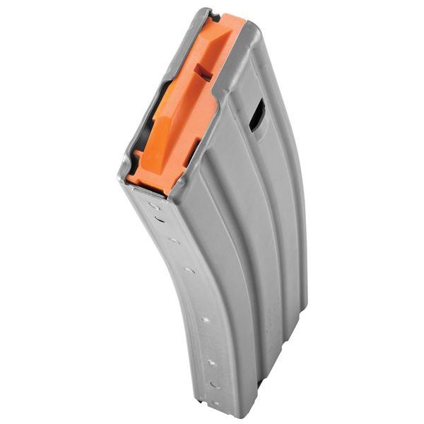 Picture of DURAMAG Speed™ 223 Rem 300 Blk 30 Round AR-15 Style Gray Aluminum Magazine Orange AGF